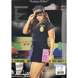 Women's Plus Size Fashion Police Costume